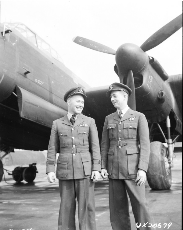 Two guys beside a Halifax