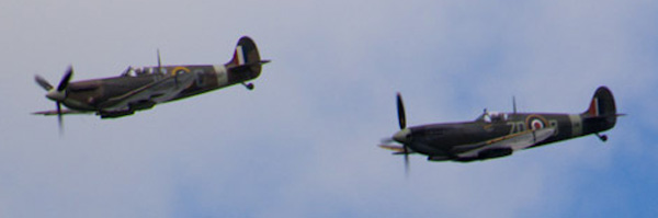 Two Spitfires