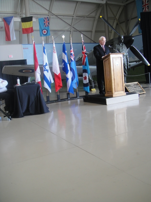Rick Buerling's Dedication Speech at CWHM for Buzz Buerling statue